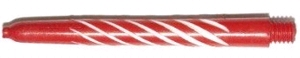 Shaft Nylon Spiroline Med Red/White