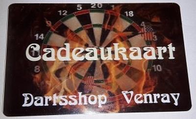 Cadeaukaart Dartsshop Venray